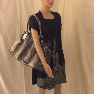 NWT. Vegan snake skin large tote overnight bag